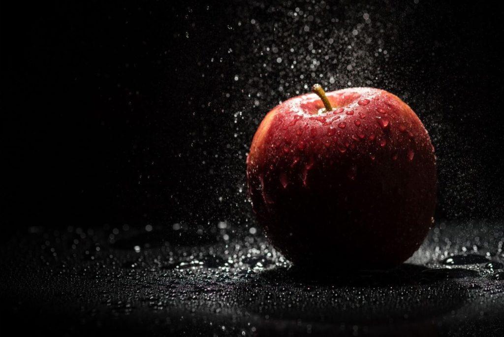 Rauchentwoehnung mit Apfel