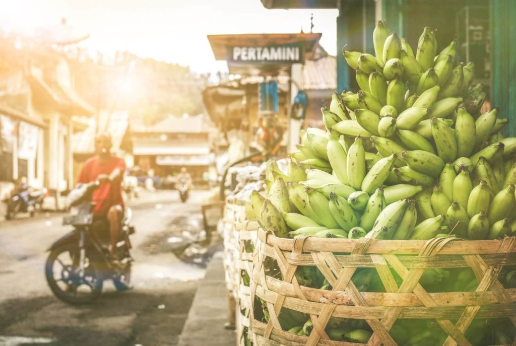Banane in gruen